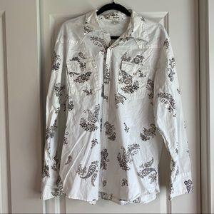 Pop Icon Western Pearl Snap Shirt - XL